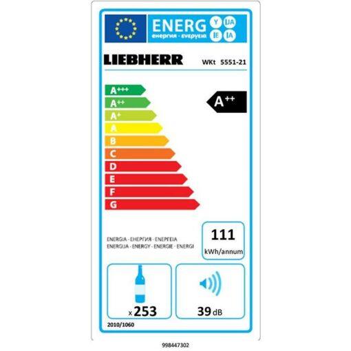 Chỉ tiêu năng lượng Tủ rượu vang Liebherr WKT 5551