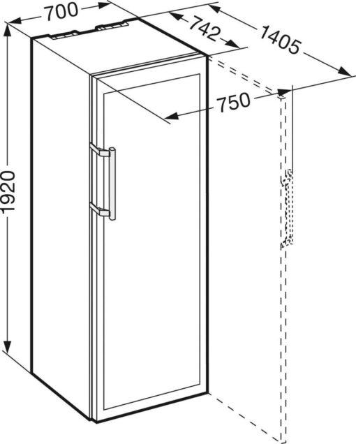 Kích thước lắp đặt Tủ rượu vang Liebherr WKT 5551