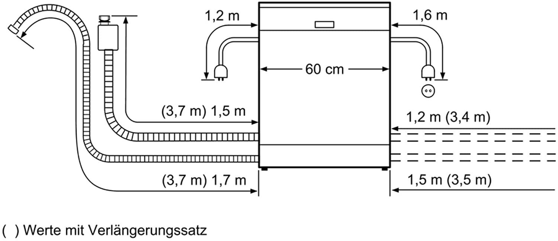 Bản vẽ lắp đặt Máy rửa bát Bosch serie 4 SMS46MI07E