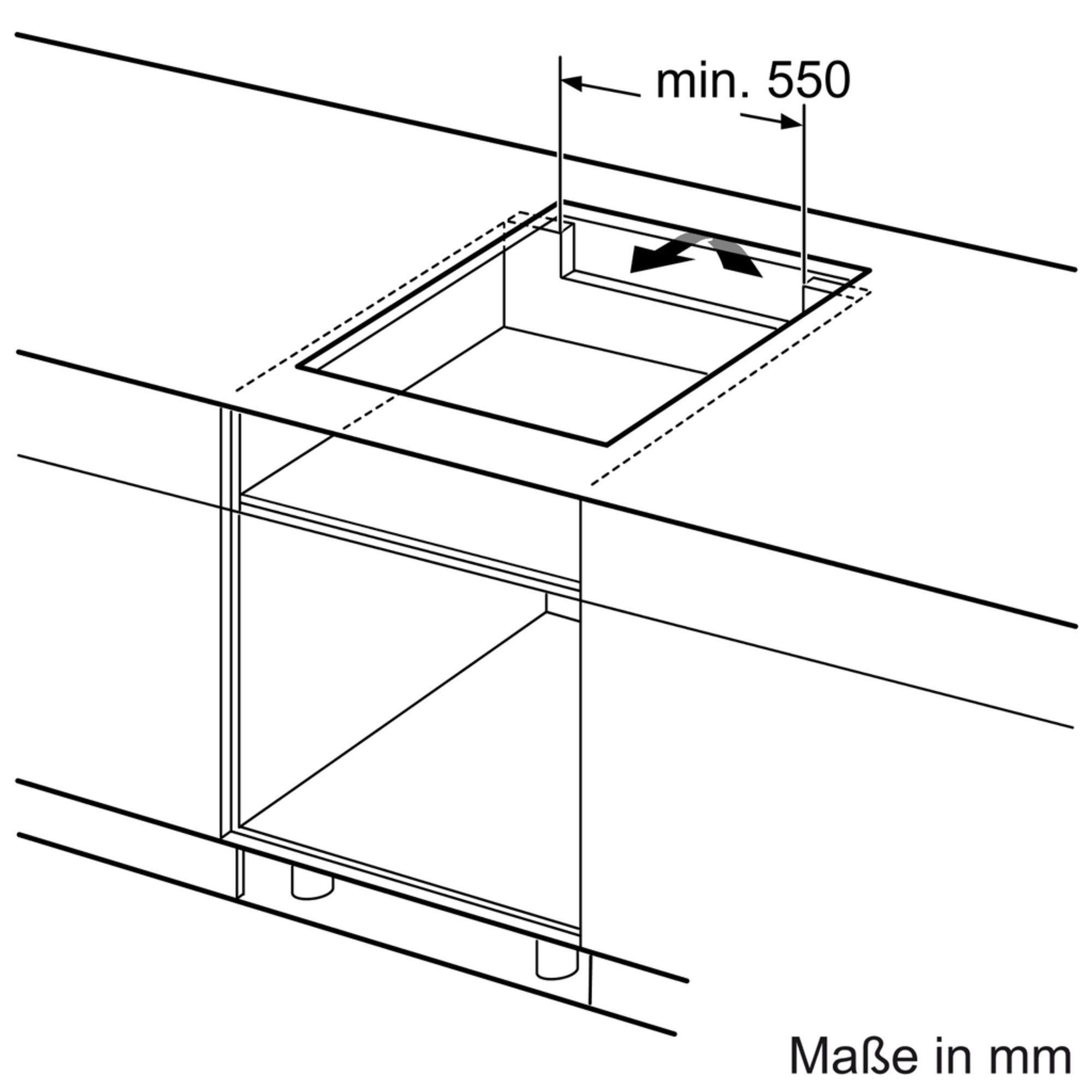 Bản vẽ lắp đặt Bếp từ Bosch PXX675DC1E serie 8