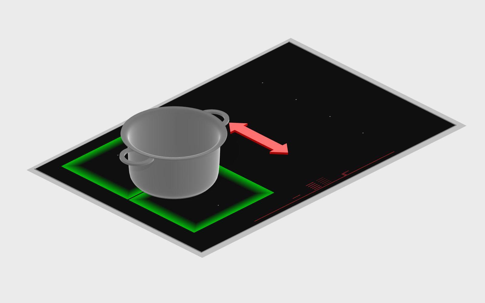 Chức năng Move Mode giúp nấu ăn tiện lợi hơn trên Bếp từ Bosch serie 8