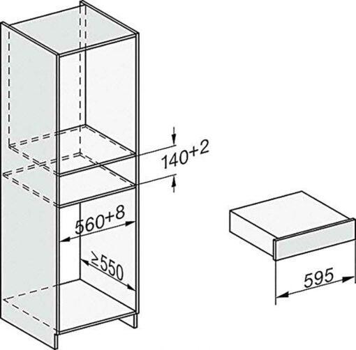 Bản vẽ lắp đặt Lò hấp âm tủ Miele ESW 7010