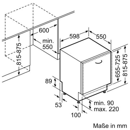 Bản vẽ lắp đặt Máy rửa bát Bosch serie 6 SMV68TX06E