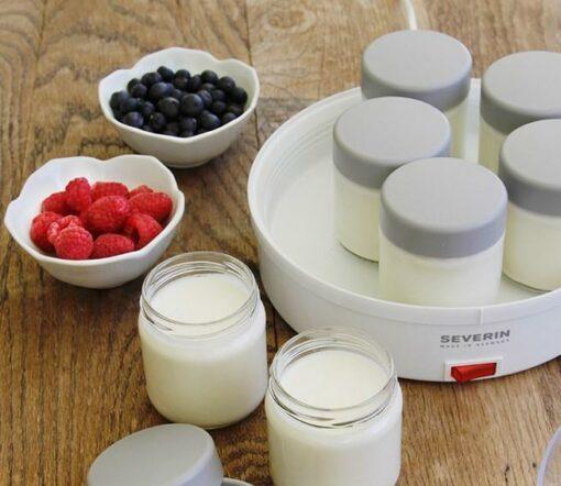 Sử dụng máy làm sữa chua vừa nhanh mà sữa chua lại sánh mịn