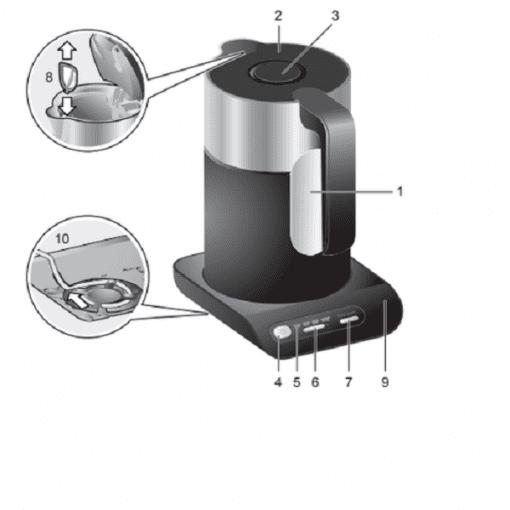 Cấu tạo bình siêu tốc Bosch twk8613p