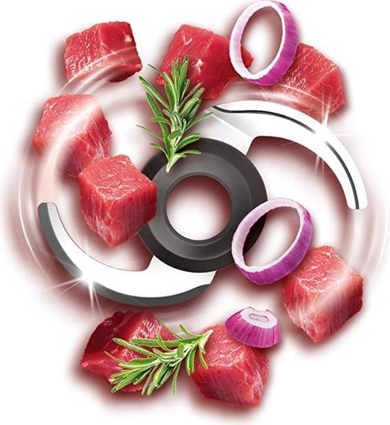 Lưỡi dao sắc bén có thể xay được nhiều loại thực phẩm trong thời gian ngắn