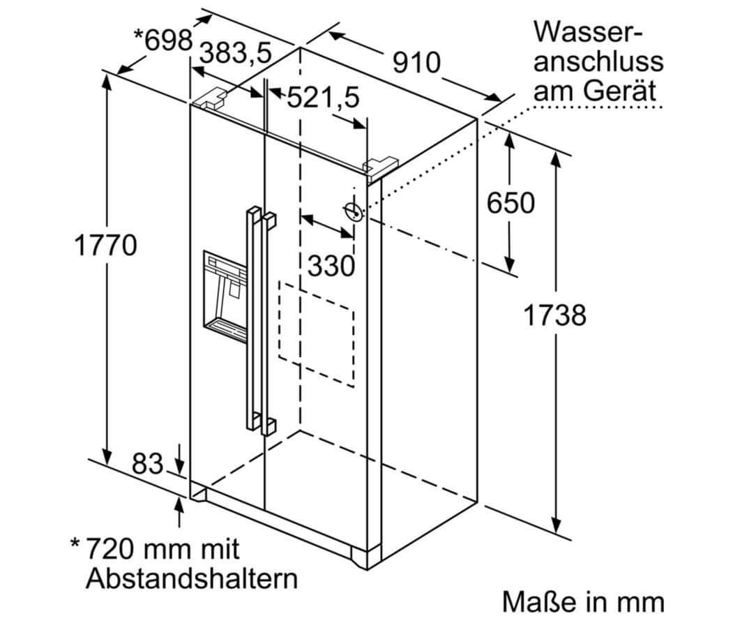 Thông số kỹ thuật tủ lạnh Bosch KAG90AI20 Serie 6