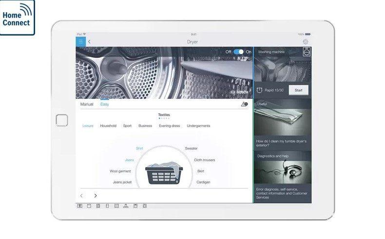 Điều chỉnh chọn chế độ qua app connect của bosch