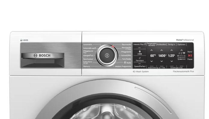 Bảng điều khiển của Máy giặt Bosch WAV28E41