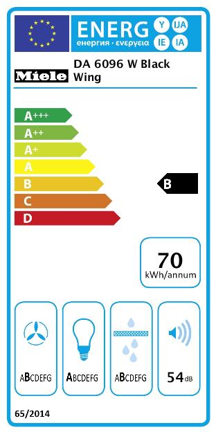 Máy hút mùi Miele DA 6096 w đặt chứng chỉ tiết kiệm điện