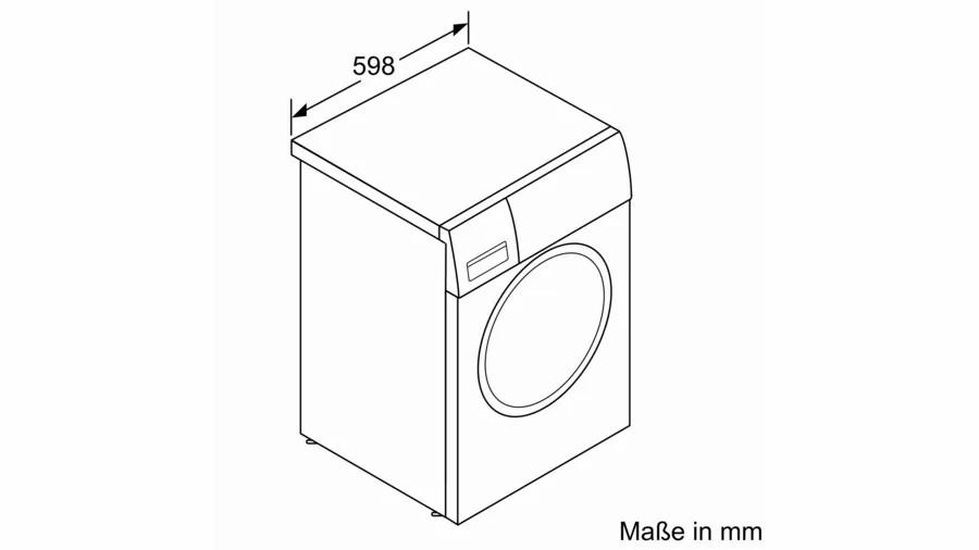 Kích thước ngang Máy giặt Bosch WAV28E42