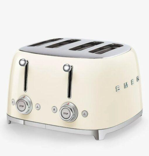 Máy nướng bánh mì SMEG TSF03 màu kem