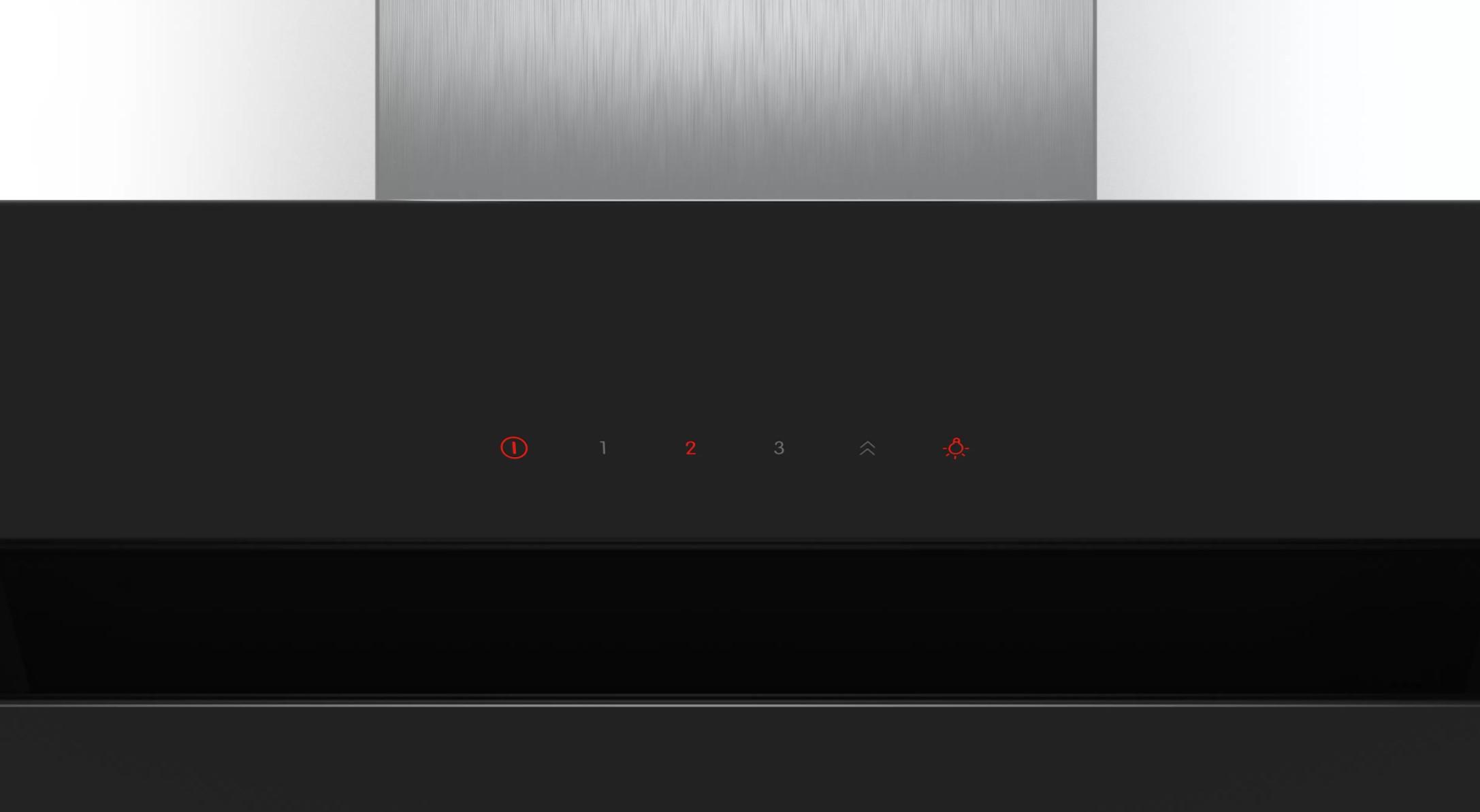 Đèn led hiển thị Máy hút mùi nghiêng Bosch DWK97JM60 – 90cm