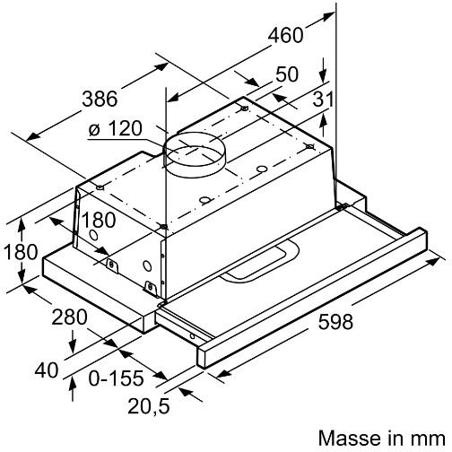 Kích thước chuẩn của Máy hút mùi Bosch DFT63AC50