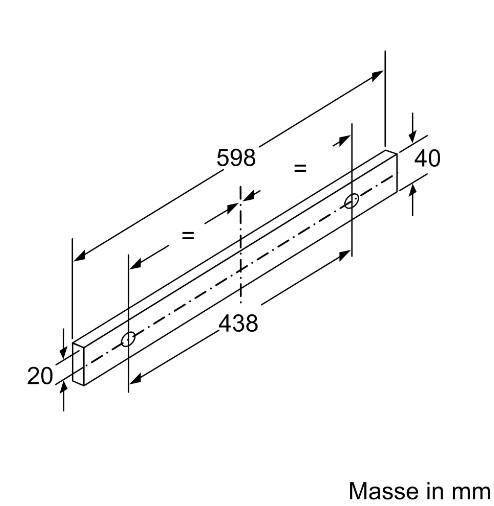 Kích thước lắp đặt của Máy hút mùi Bosch DFT63AC50
