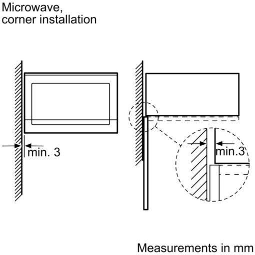 Kích thước lắp đặt của Lò vi sóng Bosch BEL554MS0B