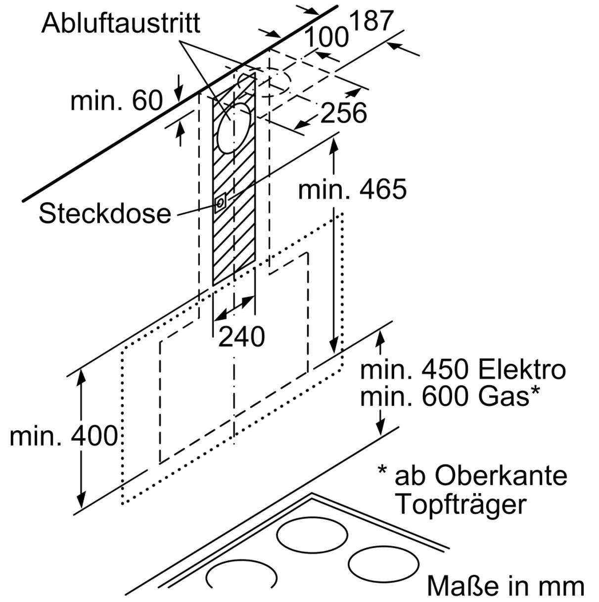 Kích thước gắn tường của Máy hút mùi nghiêng Bosch DWK97JM60 – 90cm