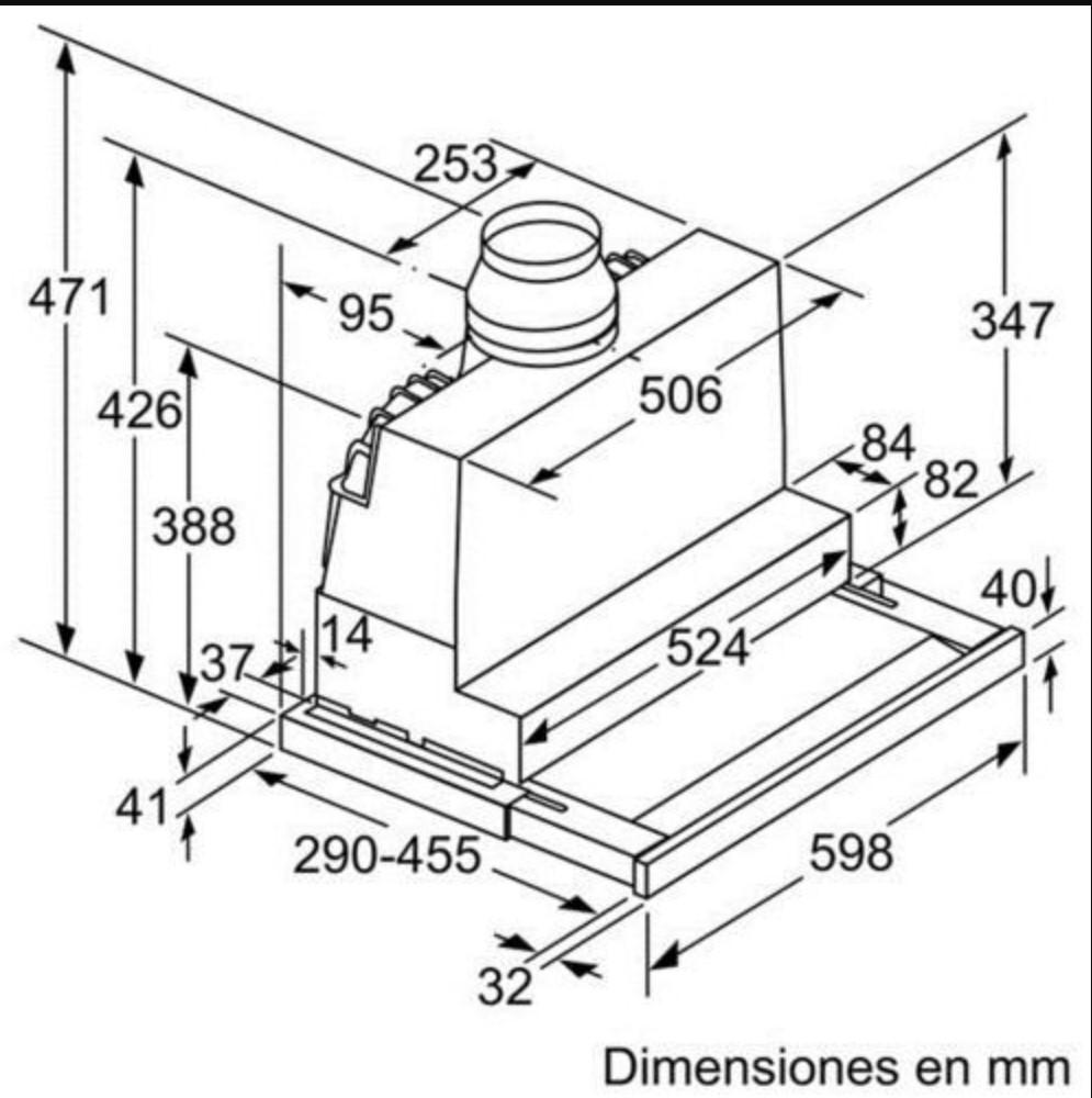 Kích thước Máy hút mùi Bosch DFS067K50