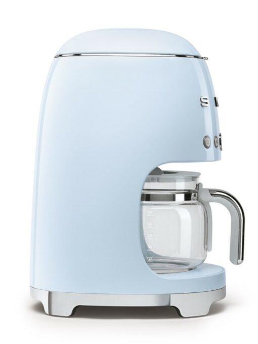 mặt trái của máy pha cà phê nhỏ giọt SMEG DCF02PBEU màu xanh
