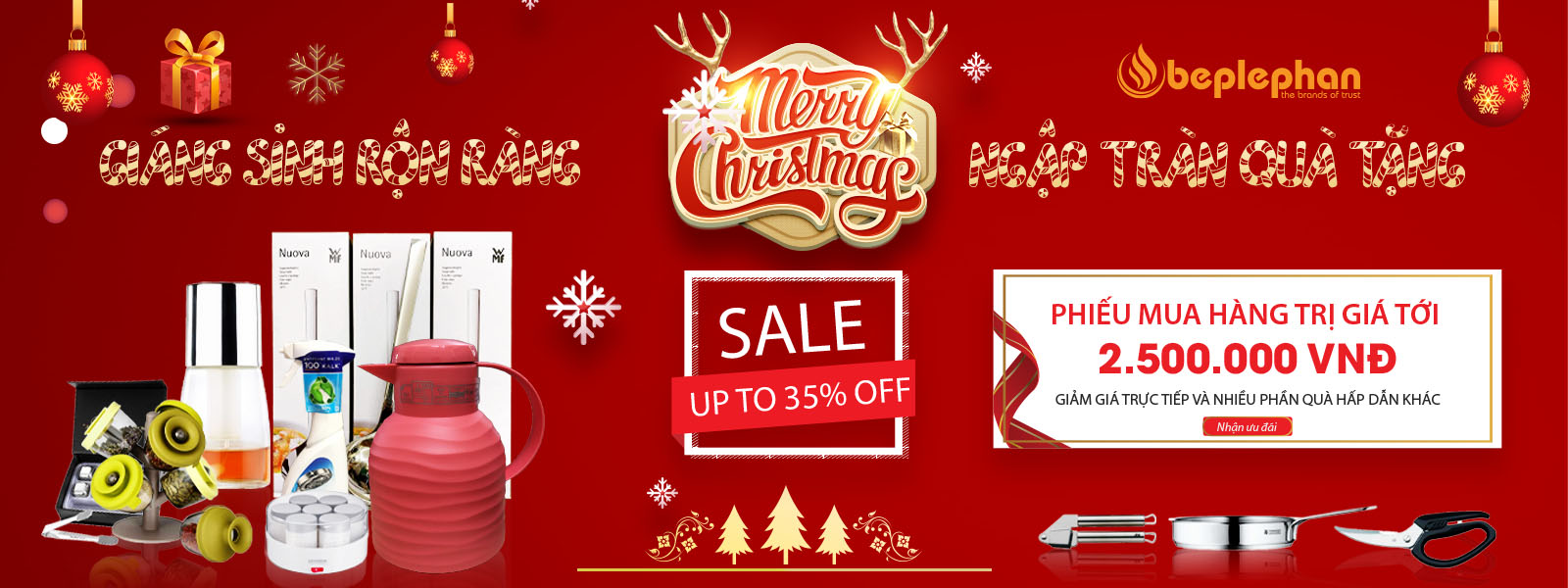 Giáng sinh ngập tràn - Hàng ngàn quà tặng - Sale up to 25%