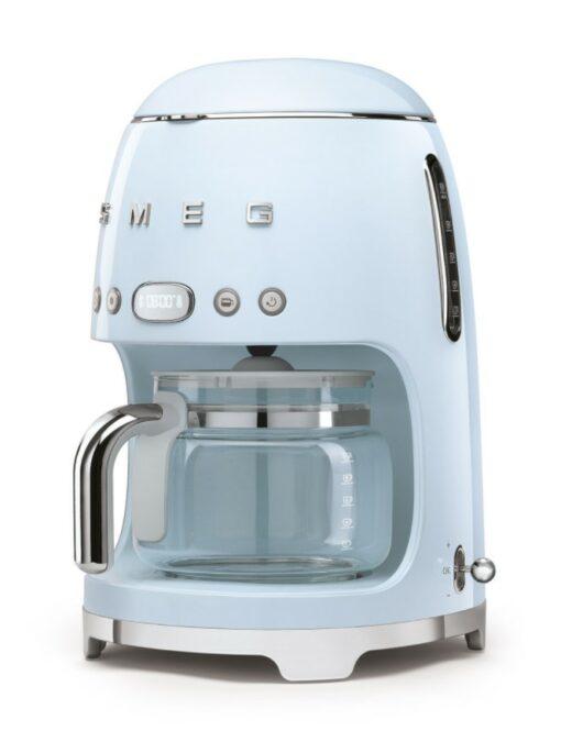 Tổng quan của máy pha cà phê nhỏ giọt SMEG DCF02PBEU màu xanh