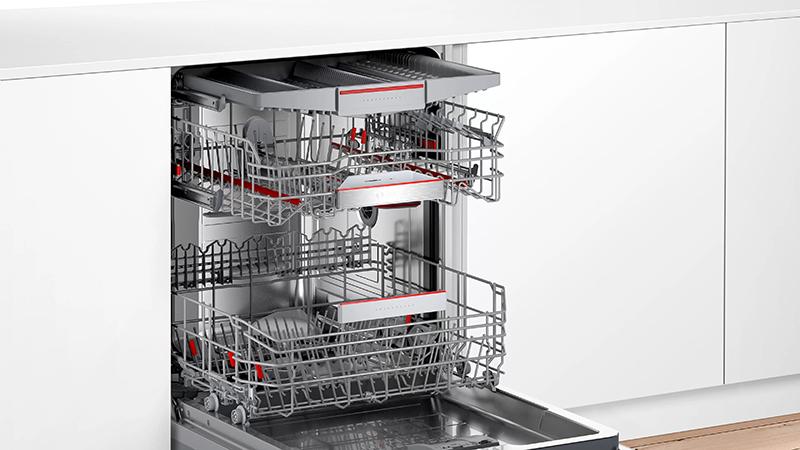 Nội thất bên trong Máy rửa bát Bosch SMV6ZCX49E serie 6 âm toàn phần