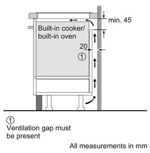Kích thước lắp đặt Bếp Từ Bosch Series 6 PIE631FB1E