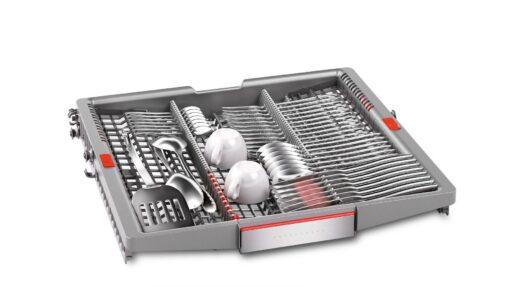 Khay rửa thìa đũa, dao kéo Máy rửa bát Bosch serie 8 bán âm SMI88US36E