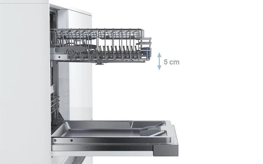 Rackmatic 3 giá đỡ: chiều cao có thể điều chỉnh lên đến 5 cm trong 3 bước