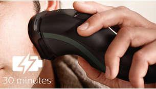 thời gian hoạt động của Máy cạo râu Philips S1300/04 lên tới 30 phút