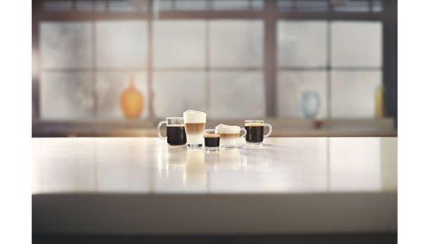 Thưởng thức 5 loại cà phê đặc sản trong tầm tay, bao gồm cappuccino và latte macchiato